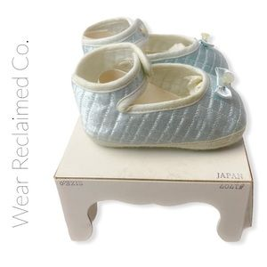VINTAGE New In Box Baby Quilted Satin Shoes  0-3M